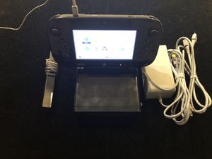 Nintendo Wii U 32GB Console System - Black + Game Pad + Cables for Sale in Atlanta, GA