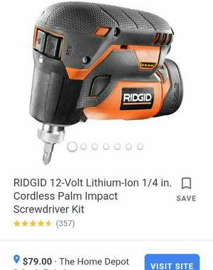 Rigid 12 volt cordless palm impact drill for Sale in Hoschton, GA