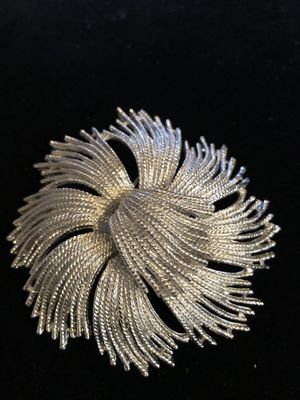 Monet Silver Tone Large Brooch Pin for Sale in Clearfield, PA