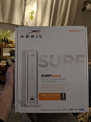 Arris Surfboard SBG6900-AC Docsis 3.0 cable modem and wifi router for Sale in Lowell, MA