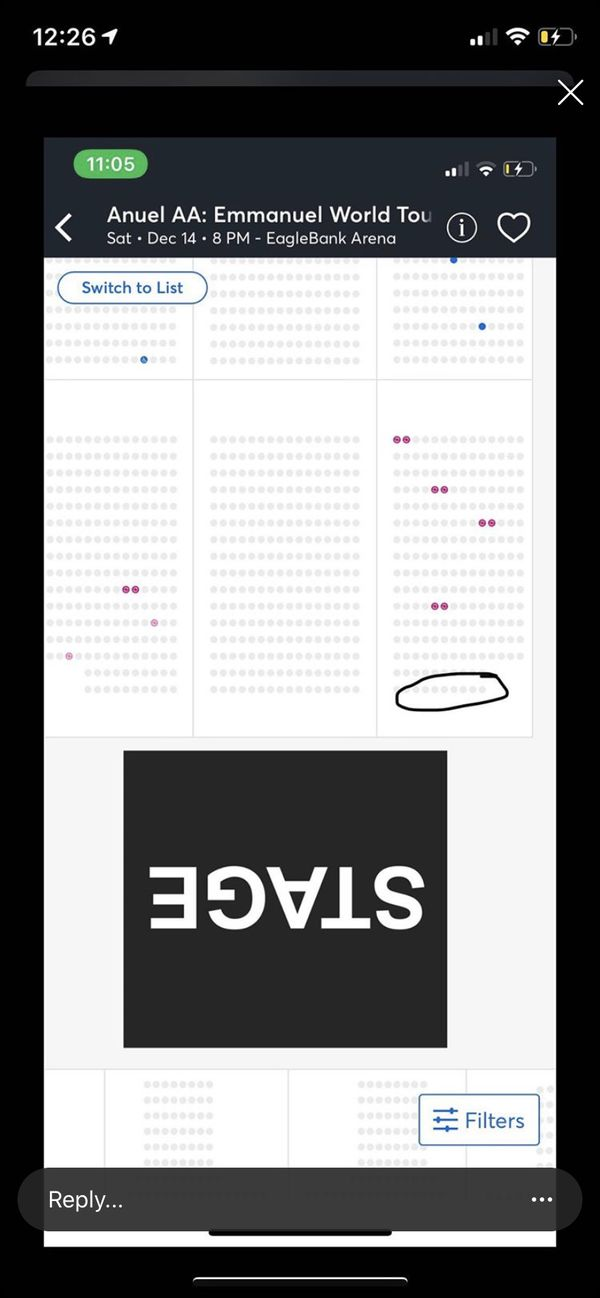 Anuel tickets front row A (2 tickets )