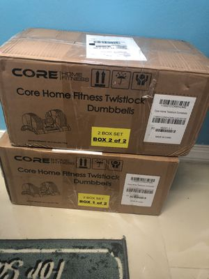 Core Home Fitness Adjustable Dumbbells 5-50 lbs *BRAND NEW IN HAND* for Sale in Orlando, FL