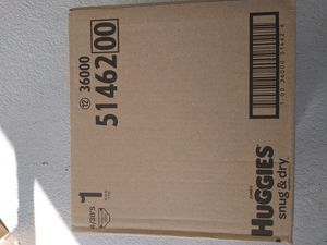 Size 1 Huggies snug and dry 152 diapers new box for Sale in Moreno Valley, CA