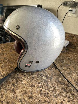 Bell women's x-small silver glitter 3/4 helmet for Sale in Denver, CO