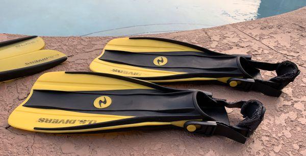 Aqua Lung U.S. Divers Fins & Blast U.S. Divers Split Fins ...