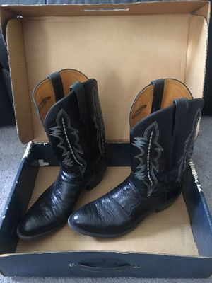 Lucchese 2000 Black Ostrich Shoulder Boots size 11.5 for Sale in Tampa, FL