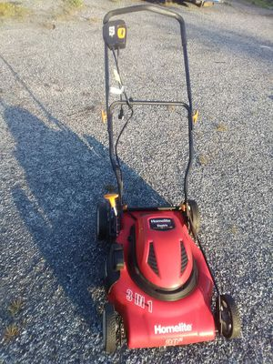 Electric lawn mower commercial grade cuts 22 in wide perfect condition ready or immediate use pick up or curbside delivery for Sale in Philadelphia, PA