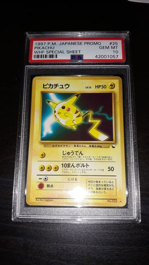 Pokemon Pikachu Japanese WHF World Hobby Fair Special Sheet PSA10 GEM MINT for Sale in Queens, NY