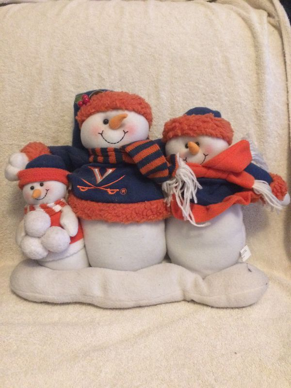University of Virginia Plush Snowman Family