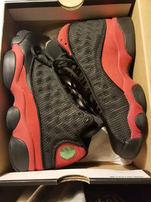 Jordan retro bred 13 Size 4.5y =size 6 women's 8.5/10 condition no major flaws just light creasing and dirty bottoms worn 4times for Sale in Everett, WA