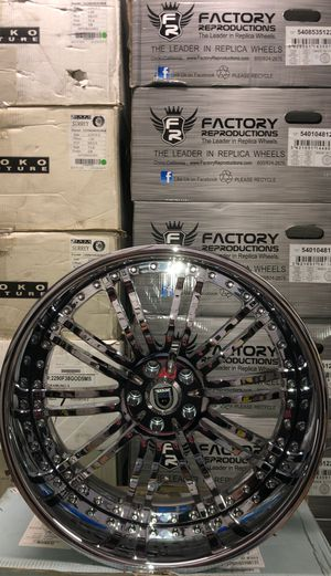 "22"" Asanti AF128 3 Piece Chrome Rims Only for Sale in La Habra, CA"
