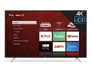 65in TCL 4K roku smart tv for Sale in West Palm Beach, FL