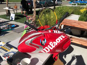 PRO TOUR TENNIS BAG & RACKETS for Sale in Tracy, CA