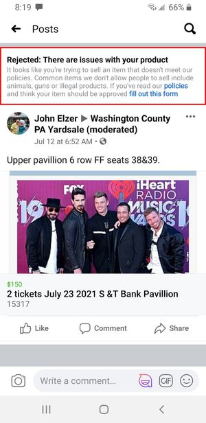 w Backstreet Boys tickets for Sale in Canonsburg, PA