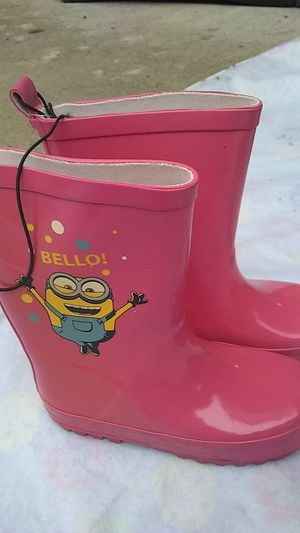 Never worn new, Despicable meSize 27 28 we should be a size 8 or 9 girls rain boots for Sale in Orange, CA