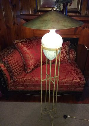 Designer Stone and Metal Floor Lamp 5ft for Sale in Newport News, VA