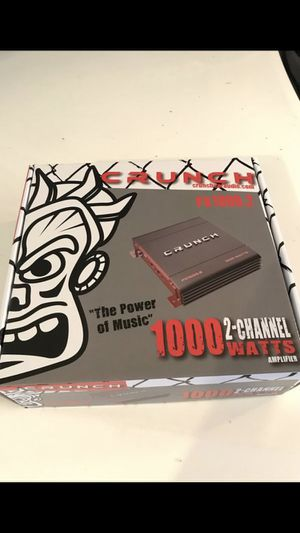 Crunch 1000 watts 2 channel amplifier for Sale in Chino Hills, CA