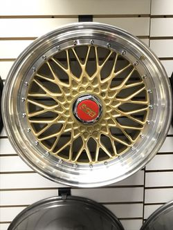Gold And Chrome BBS Rims  for Sale in The Bronx, NY