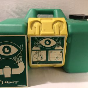 Like New HAWS 9 Gallon Gravity Fed Portable Eye Wash Station for Sale in Vacaville, CA