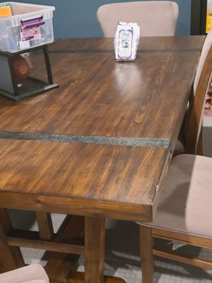 Ashley's Rustic Dinning Room Table and Chairs for Sale in Boyds, MD