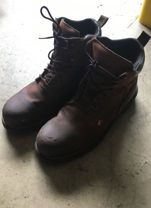 Red Wing Brand Steel Toe WorkBoots Barely Used 11.5 Mens for Sale in Apollo Beach, FL