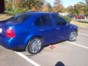 Jetta rims and tires 5x108 chrome spoke rims for Sale in Alexandria, VA