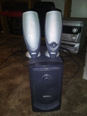 **DELL SUBWOOFER\SPEAKER COMBO**AUDIO INPUT**CONNECT YOUR PHONE,PC,GAMING SYSTEM FOR WONDERFUL BASS AND CLARITY** for Sale in Bakersfield, CA
