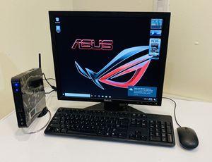 "NEW ASUS Desktop Computer, INTEL Dual Core @1,8GHz, 320GB HDD/4GB RAM, HD Graphics, WIFI, 10 USB, Card Reader, E-SATA, 19"" Monit/Keyb/Mou. Win10 Pro for Sale in Davie, FL"