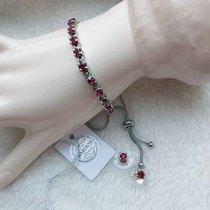 🎁 Ruby Swarovski Crystals in Bracelet & Earrings for Sale in Pompano Beach, FL