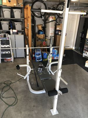 Weight bench with weights and more for Sale in Auburn, WA