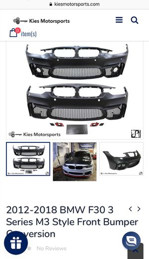 Bmw 3 series m3 style front bumper new in box for Sale in Perris, CA
