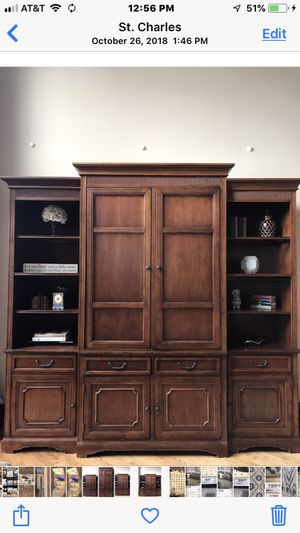 Large solid wood entertainment center for Sale in St. Charles, IL
