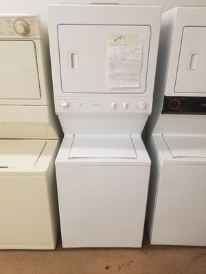 White GE stacking laundry Affordable182 for Sale in Denver, CO