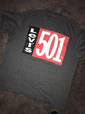 Vintage Levis 501 Logo Gray T-Shirt Men's M 1992 for Sale in Euclid, OH