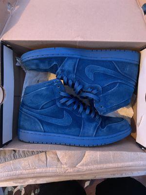 Jordan 1 blue suede for Sale in Moss Point, MS