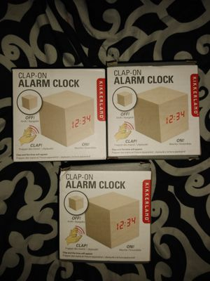 Kikkerland clap on alarm clock for Sale in Plano, TX
