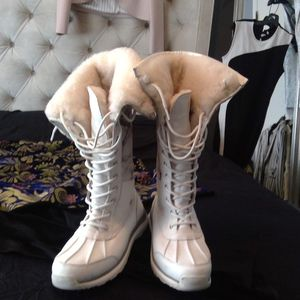 UGG Adirondack Tall III Snake White Snow Boots for Sale in West Orange, NJ