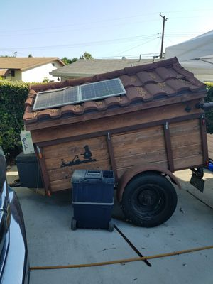 Home made camp trailer with pull out drawers 4' X 6' with truck tent. for Sale in La Puente, CA