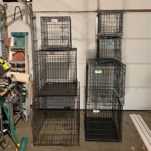 Seven folding dog crates for Sale in Pelham, NH