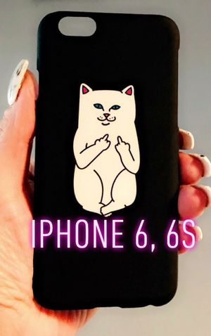 New cool iphone 6 6s case hypebeast ripndip cat Clip on protective case slim lightweight for Sale in San Bernardino, CA