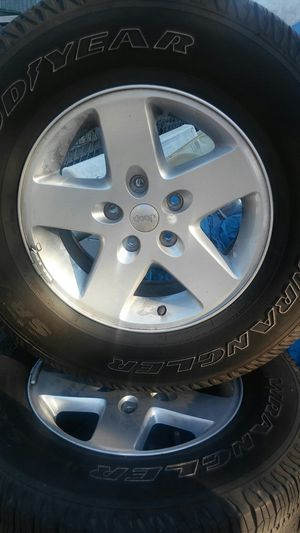 Jeep wrangler wheels/tires for Sale in Morgan Hill, CA