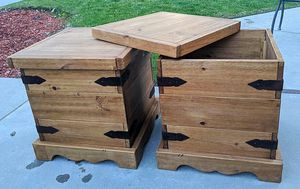 Farmhouse storage tables, $80.00 or best offer. Pick Up Only for Sale in Fresno, CA