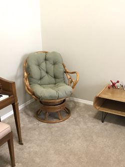 Vintage Mid Century Boho Rattan Bamboo Chair for Sale in Spanaway,  WA