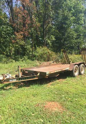 Double axel flat trailer for Sale in Greenwood, VA