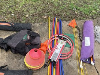 Soccer Equipment $150 Goalie Net, Cones, Agility Sticks, Etc for Sale in Waco,  TX
