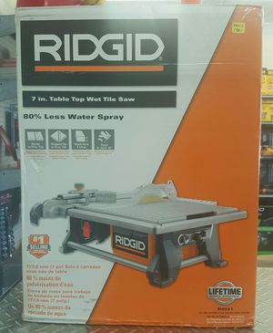 """Ridgid 7"""" Table Top Wet Tile Saw Brand New for Sale in Penn Hills, PA"""