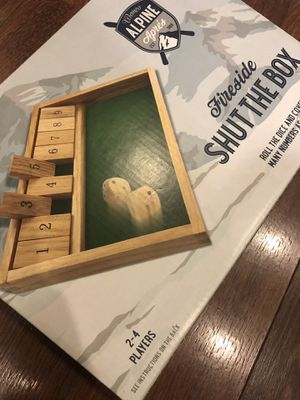 New Fireside shut the box game - teaching math, numbers. Drinking game. Gift. Father's Day. for Sale in AZ, US