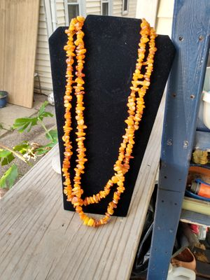 Natural Amber long necklace 92.6 grams for Sale in Elgin, IL