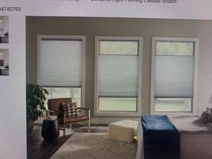 Custom 50 width by 52 length light filtering shade in grey whisper for Sale in Staten Island, NY