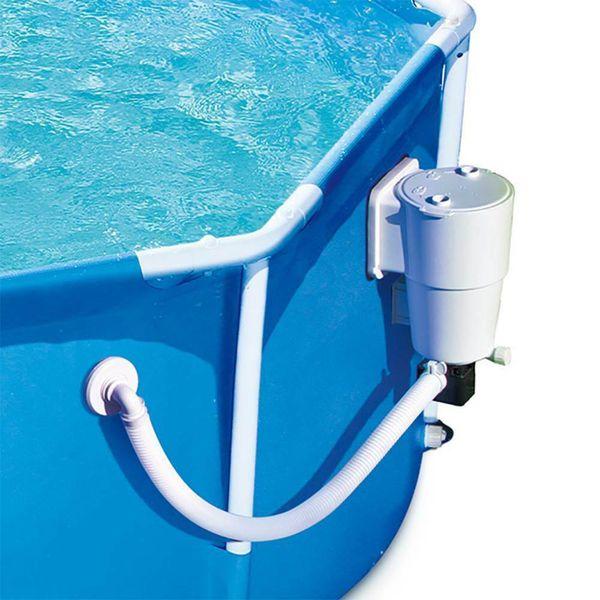 Summer Waves 8 Foot Metal Frame Above Ground Swimming Pool Set